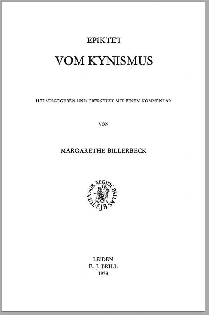 Epiktet-Vom_Kynismus-Kommentar_von_Margarethe_Billerbeck