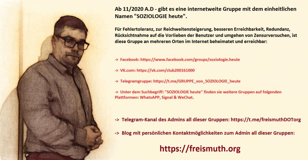 """Verschiedene Internetadressen der Gruppe """"Soziologie heute""""."""